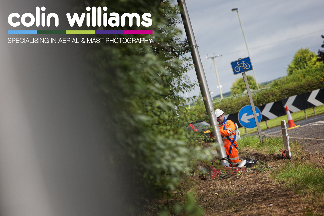 Construction photography - Street lighting