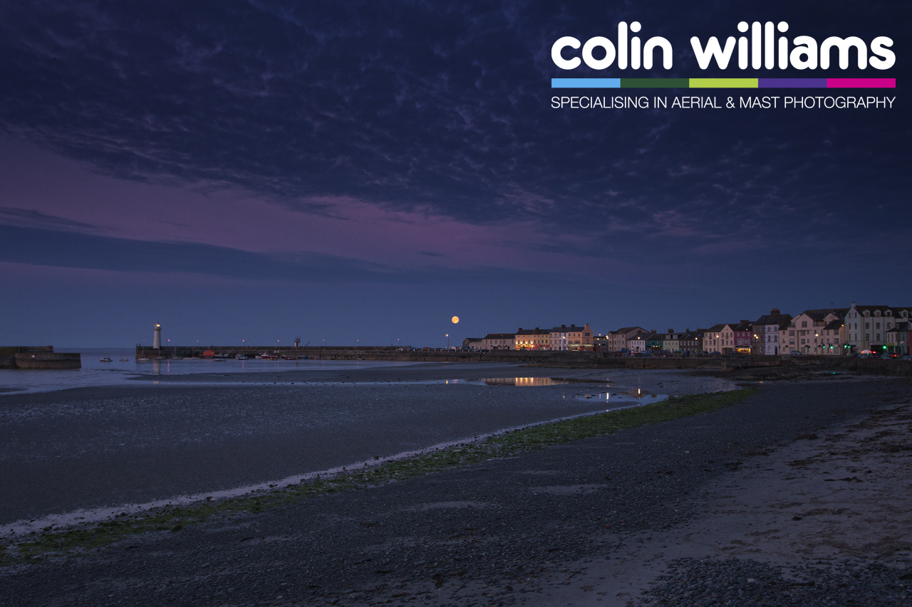 Time Lapse - Supermoon over Donaghadee