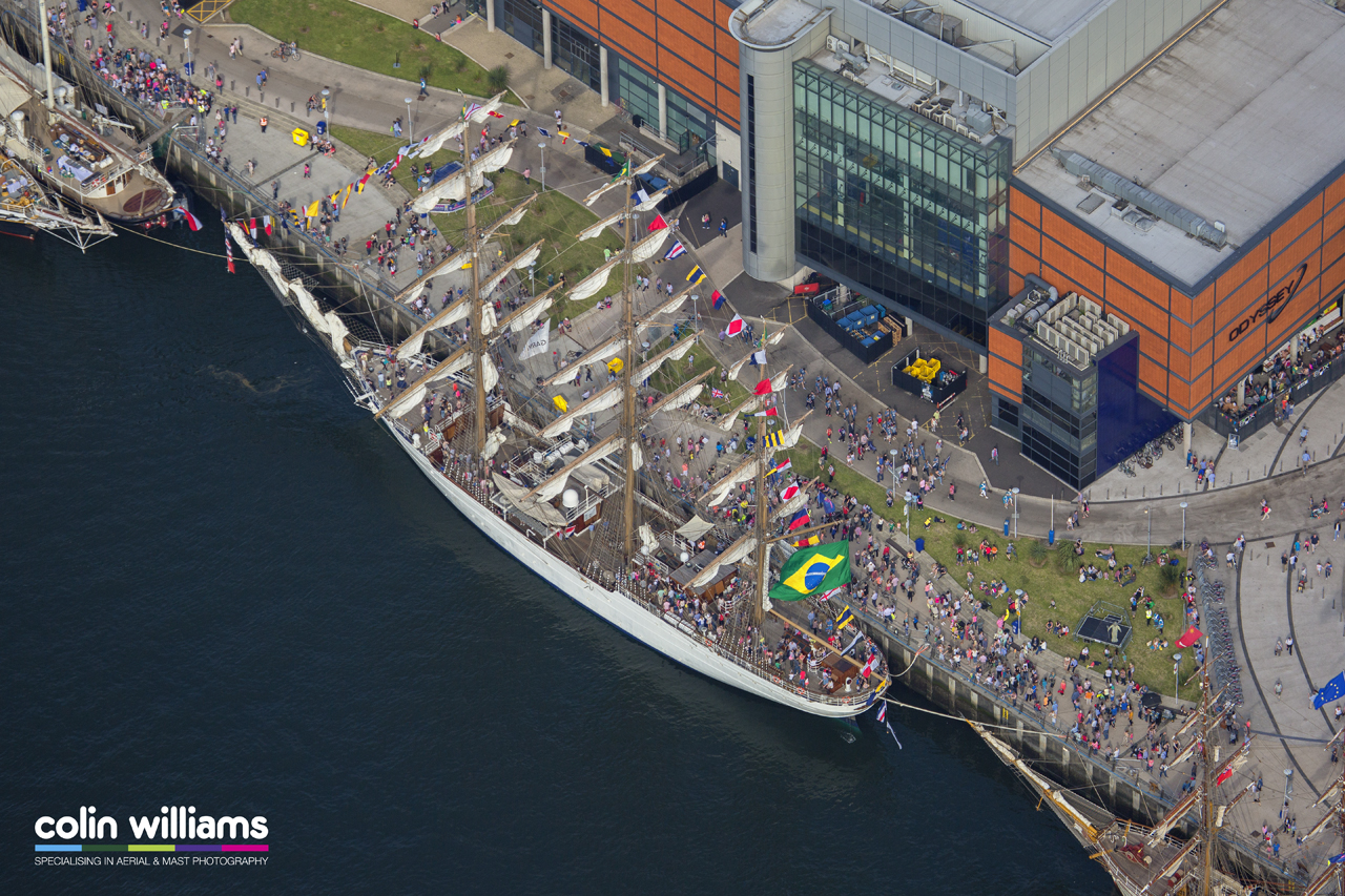 Aerial photography - Tall Ships Belfast 2015